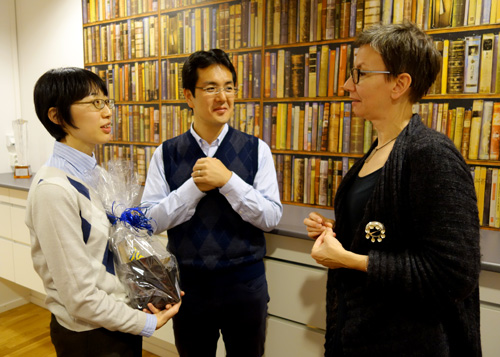 With Mr.Atsushi Nishida, Project Leader (the person in the centre) and Dr.Katarina Nägga, Associate Professor (right side) at Lund University on November 2015